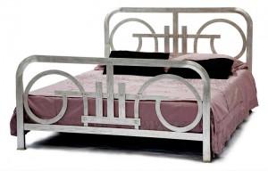 Design Bett - Betten - Modell  - Art Déco - Metallbett  - Eisenbett