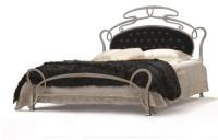Design Bett - Modell  - Grasse Silber  - Metallbett  - Eisenbett - Luxus Bett