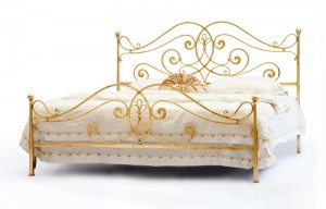 Design Bett - Betten - Modell Nancy  - Metallbett  - Eisenbett - Luxus Design Bett