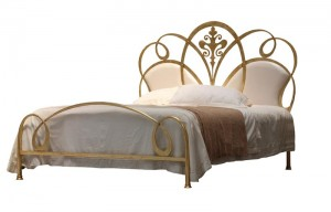Luxus Design Bett - Betten - Modell  Nizza - Design Metallbett  - Eisenbett