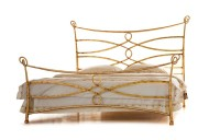 Design Bett - Betten - Modell  Orange - Metall-Bett  - Eisenbett - Luxus Bett