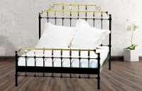 Iron Bed - Metall-Bett - Messing-Bett - Modell - Barcelona - komplett