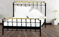 Iron Bed - Metall-Bett - Messing-Bett - Modell - Valencia - komplett