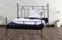 Iron Bed - Metall-Bett - Landhaus-Bett - Modell -  Landhausbett Eckig
