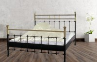 Iron Bed - Metall-Bett - Messing-Bett - Modell - Toledo -Var. 3 Komplett