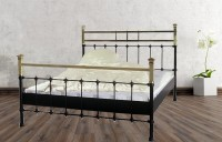 Iron Bed - Metall-Bett - Messing-Bett - Modell - Toledo -Var. 4 Komplett
