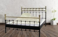 Iron Bed - Metall-Bett - Messing-Bett - Modell - Toledo -Var. 5 Komplett